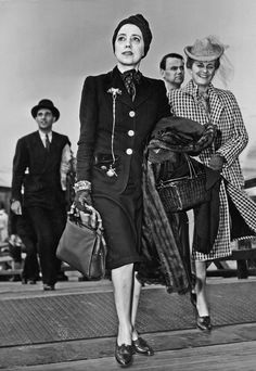 Schiap arrives on the Pan Am Clipper in New York, in 1941. Her unusual freedom of movement during the first two  years of World War II has prompted speculation that she was a spy for the German government. Photo courtesy of Meryle Secrest