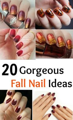 20 Gorgeous Fall Nail Ideas to easily change up your look. #fallnails #nails #beauty