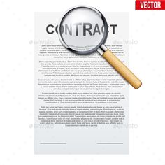 Buy Legal Contract Signing by Batareykin on GraphicRiver. Concept of attentive and careful research Legal contract before signing. Contract document and Magnifier.