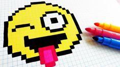 Handmade Pixel Art - How To Draw Emoji #pixelart