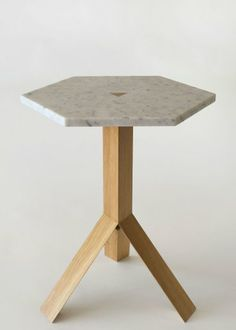 Fort Standard Timber & Marble Elevate Table | Yellowtrace.