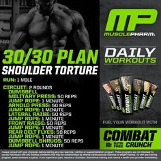 Muscle Building Tips. Gain More Mass With These Weight Training Tips! It can be fun to lift weights if you do it safely and correctly. You can enjoy yourself and see the progress of an effective workout routine. Shoulder Training, Shoulder Workout, Shoulder Routine, Gym Workouts, At Home Workouts, Push Workout, Workout Mix, Musclepharm Workouts, Arnold Workout