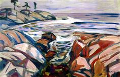 Coastal Landscape at Hvitsten Edvard Munch - 1916-1917