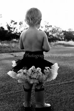 Baby girl in a Pettiskirt - I make these! Check my etsy shop out. :-)