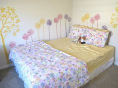 A Girl's Flower Bedroom