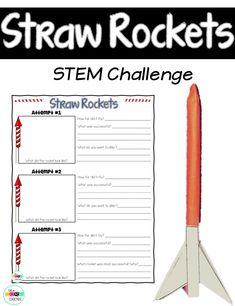 Straw Rocket Stem Challenge. Perfect way to countdown the days until summer break.