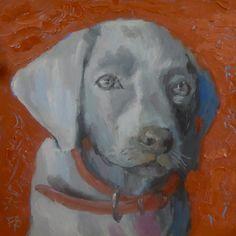 Weimaraner Dog Portrait, sold
