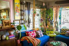 The Most Maximalist Bohemian Home Just Might Be on This Farm in Colorado Boho Home Tour: A Maximalist Home on a Colorado Farm Bohemian House, Boho Home, Bohemian Interior, Bohemian Decor, Modern Bohemian, Bohemian Style, Bohemian Grove, Hippie Style, Colorado Homes
