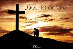 """""""Der #Herr ist denen #nahe, die zu ihm #beten und es #ehrlich meinen."""" #Psalm 145:18 #glaubensimpulse"""