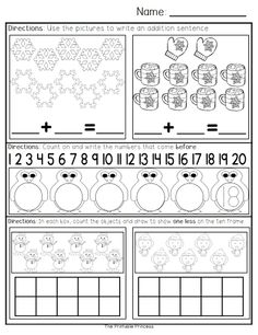 January morning work for Kindergarten. 40 pages of literacy and math activities.