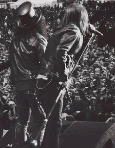 "Axl Rose & Slash, late '80s ""Axl and I came from completely different backgrounds. Because of that we made an interesting pair trying to figure each other."" -Slash"