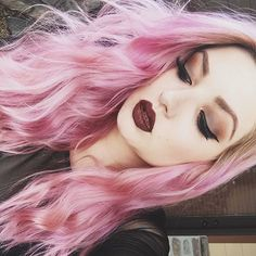 Makeup and hair Dyed Hair Pastel, Pink Hair, Pastel Pink, Grunge, Hipster, Fantasy Hair, Coloured Hair, Kawaii, Punk
