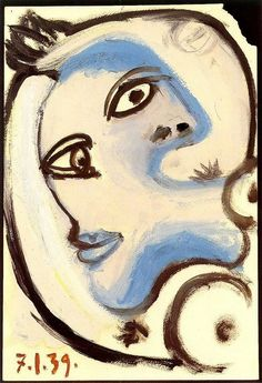 "Pablo Picasso - ""Head of a Woman"". 1939"