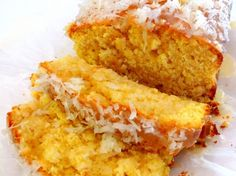 Coconut-Lemon Loaf with Coconut-Lemon Glaze. Recipe from The Noble Pig Vineyard & Winery.
