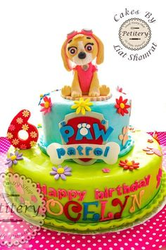 Skye  Cool Paw Patrol - Cake by Petitery cakes by Liat Shomrat ❤
