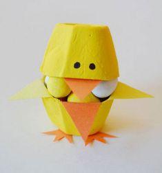 ❤ Húsvéti cukorkatartó csibék tojástartóból ❤Mindy -  kreatív ötletek és dekorációk minden napra