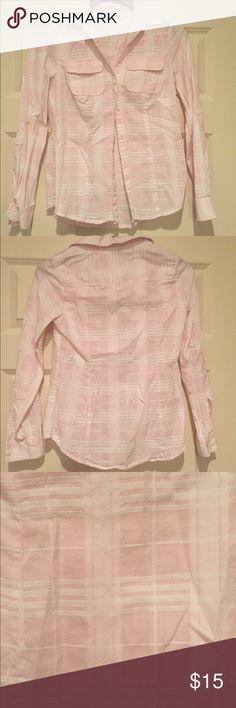 XS I ❤️Ronson light pink plaid button up XS I ❤️RONSON pink plaid button down shirt. 100% cotton Charlotte Ronson Tops Button Down Shirts