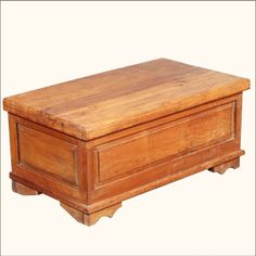 Shaker Reclaimed Wood Coffee Table Storage Box Hope Chest