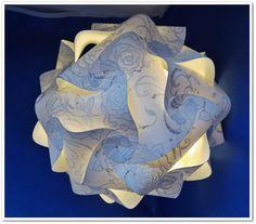 Puzzlelampe weiß-silber