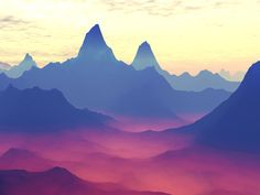 Mountains of Another World Art Print
