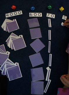 Place Value Bead Cards to print free