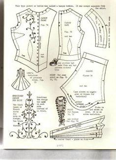 Выкройки старинной одежды для кукол.: