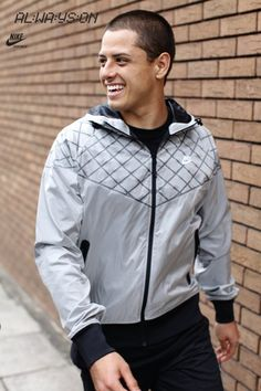 Chicharito in Nike Windrunner jacket