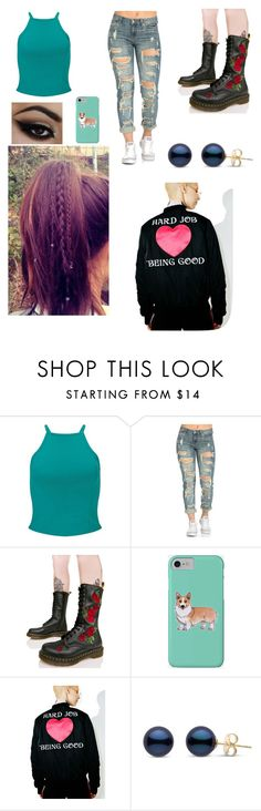 """""""Untitled #3495"""" by sammisaurusrex ❤ liked on Polyvore featuring Miss Selfridge, Dr. Martens, Corgi and Married to the Mob"""