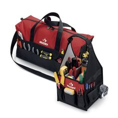 Husky 8 In. And 20 In. Tool Tote Pocket Storage Bags Combo #Husky