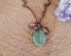 Om necklace  yoga necklace  heart chakra jewelry  om by OmSaha