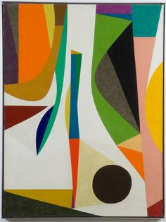Up with in, 1957–58, Frederick Hammersley. Oil on linen. 47 7/8 x 36 in.