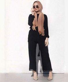 Palazzo pants with hijab- Hijab style 2017 – Just Trendy Girls