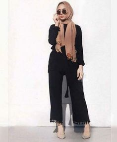 Palazzo pants with hijab- Hijab style 2017 – Just Trendy Girls