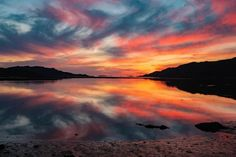 Mirror Image, Celestial, Mountains, Sunset, Nature, Travel, Outdoor, Outdoors, Naturaleza