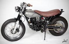See our web page for a little more information on this mind-blowing photo Tracker Motorcycle, Scrambler Motorcycle, Motorcycles, Bobber Custom, Moto Cafe, Street Tracker, Style Retro, Machine Design, Ducati