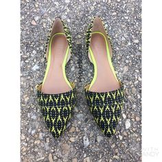 NWOT J.Crew Woven D'Orsay Flats Sold out online! • New never worn, but with no tags or box • Gorgeous D'Orsay Style • Black & Yellow colors • Size 6 • NO TRADES • J. Crew Shoes Flats & Loafers