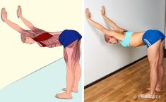 18 Illustrations qui montrent clairement quels muscles tu es en train d'étirer Muscle Stretches, Stretching Exercises, Scoliosis Exercises, Yoga Fitness, Health Fitness, Workout Bauch, Yoga Posen, Back Muscles, Upper Body