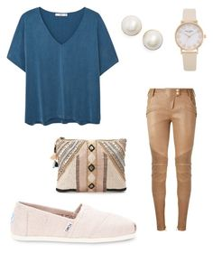 """"" by yoliredolat on Polyvore featuring moda, MANGO, Kate Spade, Balmain, TOMS y BLANK"