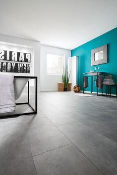 Floer ComfyClick PVC Vloer Tankenberg Leemgrijs x x cm Diy Interior, Interior Styling, Interior Design, Grey Flooring, Kitchen Flooring, Get On The Floor, Entryway Tables, Sweet Home, New Homes