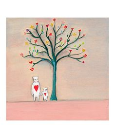 Standing hand in hand beneath a tree of dreams. Yes, let's meet there today. :: Tree of Dreams Print from Creative Thursday