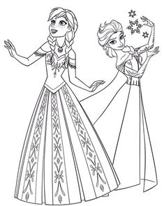 Two beautiful princesses of Arendelle: Elsa and Anna. Disney Frozen coloring page. Make your world more colorful with free printable coloring pages from italks. Our free coloring pages for adults and kids. Frozen Coloring Pages, Disney Princess Coloring Pages, Disney Princess Colors, Disney Colors, Christmas Coloring Pages, Coloring Pages To Print, Free Printable Coloring Pages, Free Coloring, Adult Coloring Pages