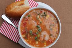 Louisiana Shrimp and Corn Soup + How to Make a Roux | Our Southern RootsOur Southern Roots