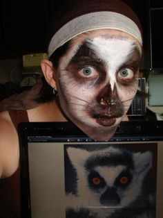 ring tail lemur face paints by GabriellesWings