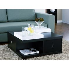 @Overstock - Furniture of America Mareines Black Coffee Table with Serving Trays - Refined, understated style highlights the look of the Mareines coffee table with serving trays. This furniture features wood construction and rich colors.  http://www.overstock.com/Home-Garden/Furniture-of-America-Mareines-Black-Coffee-Table-with-Serving-Trays/5135172/product.html?CID=214117 $199.72