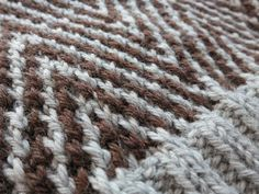 Mosaic knitting might look complicated but you only knit with one colour on each row