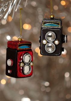 camera tree ornaments--so cute!