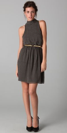 alice + olivia Mikaela Polka Dot Dress with Belt | SHOPBOP