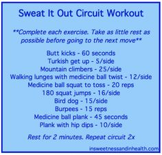 Sweat it out circuit. #fitfluential