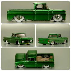 custom diecast cars by witheredcustomz Miniature Cars, Custom Hot Wheels, Model Cars Kits, Chevy Pickups, Kustom, Toys For Boys, Scale Models, Hot Rods, Diecast
