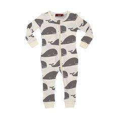 Lemon MilkBarn Organic Cotton Zipper Pajama